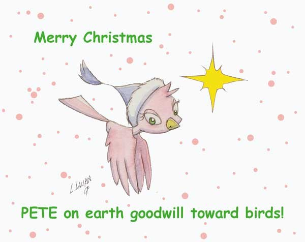 Here is a Holiday card with PETE
