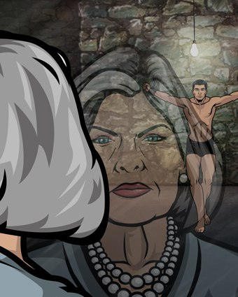 Mallory is a parody of Judi Dench's M. Adam Reed had Jessica Walter in mind and was glad to get her.