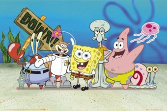 How many characters are on SpongeBob?