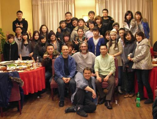After dinner on my last night in China, with Paul Johnson, Edwin Poon Mark Gruneau and all the students