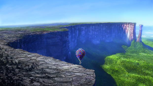 Pixar's trip to Venezuela was the foundation of shaping the events and look at Paradise Falls.