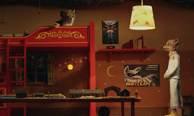 Fantastic Mr. Fox distills the essence of Wes Anderson's way of laying out scenes and then stepping back in his own story-book fashion. Courtesy of Fox Searchlight.