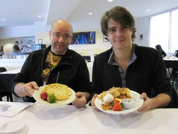 Raul and Javier enjoy breakfast at ILM-Hop