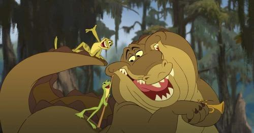 Louis the screwball alligator from The Princess and the Frog