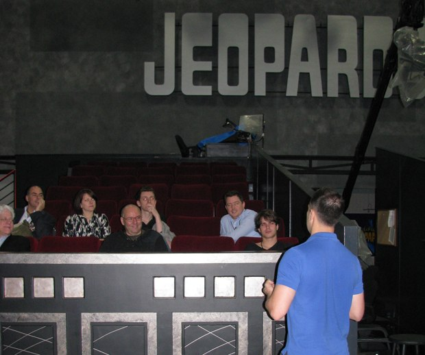 The tour takes a swing by the Jeopardy set.