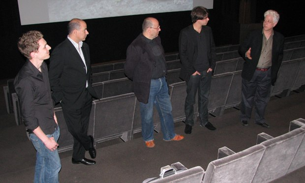 Ron introduces the filmmakers to the CAA agents and their clients.