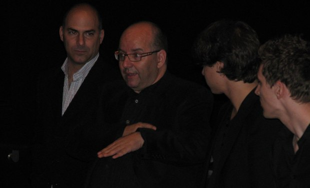 Raul explains details of The Lady and the Reaper with the CAA crowd.