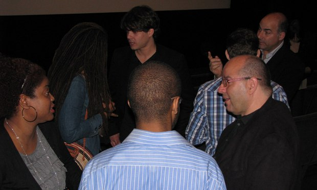 After the screening, the filmmakers get a chance to talk with CAA's clients.