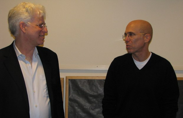 Look who we ran into in the hall. Tour host Ron Diamond chats with DreamWorks head Jeffrey Katzenberg.