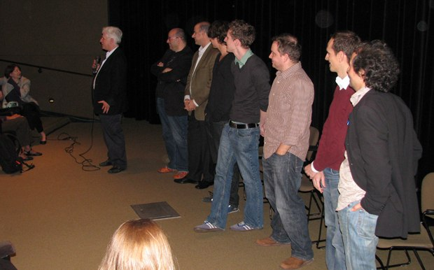 The filmmakers field questions from the eager DreamWorks artists.