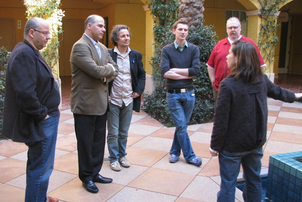 The nominees are treated to tour of the campus.