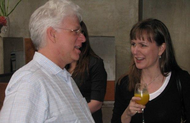 Tour host Ron Diamond (l) and Rainmaker president Catherine Winder.