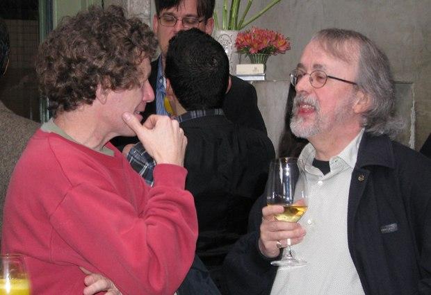 Bee Movie director Steve Hickner (l) and Aardman's Peter Lord.