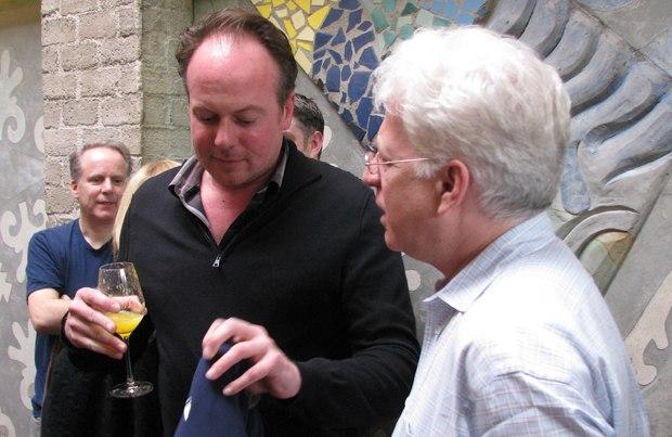Megamind director Tom McGrath and Ron Diamond.