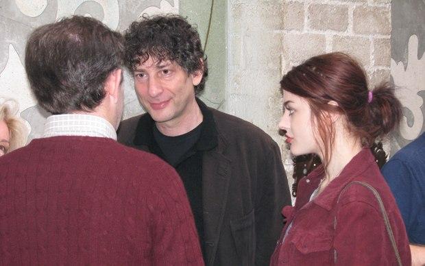 Neil Gaiman with his guest Frances Bean Cobain.