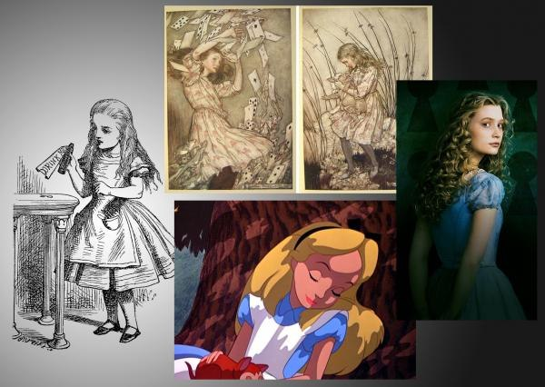 Looking at the various versions of Alice through the last century, one can see how perfectly Burton's latest version fits the bill!