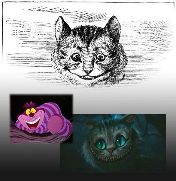 Tim Burton's Cheshire Cat is a delightfully effective character!