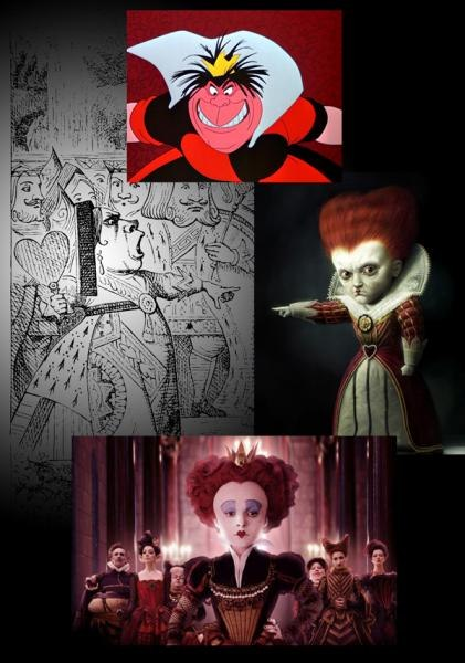 A bobble-headed Helena Bonham Carter was refreshingly vulnerable and believable as the Red Queen