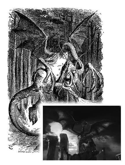 The Jabberwocky, was a brilliant rendition of John Tenniel's original pen and ink drawings