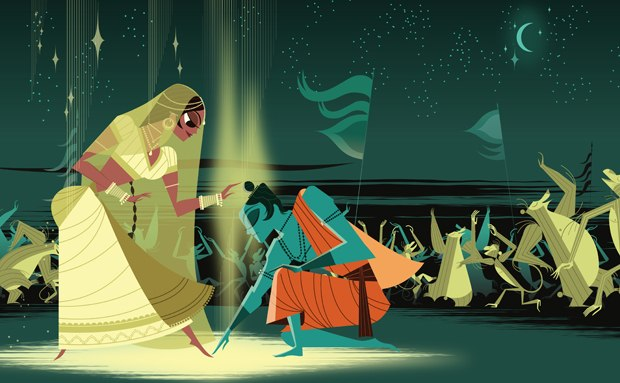 Sita doesn't sing the blues in this simple yet dynamic illustrated version.