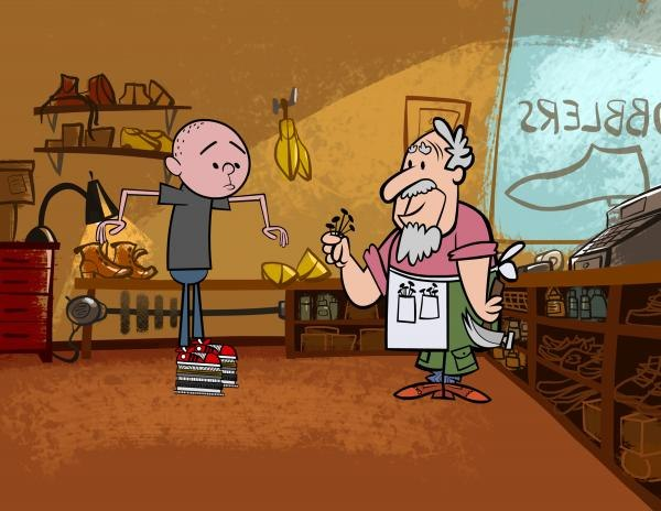 The animation makes the Karl kidding appear less mean-spirited. Courtesy of Karl Pilkington and HBO.