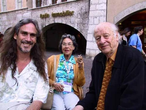 I was luck enough to hang out with the creator of the animation in the original 'Clash of the Titans' the legendary Ray Harryhausen and his lovely wife Dianne in Annecy, 2004. Ray is