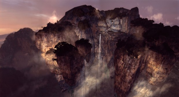 Avatar VAD (Hallelujah Mountains): virtual environment modeled and textured in LightWave 3D and displayed in a realtime Open GL pipeline using MotionBuilder.