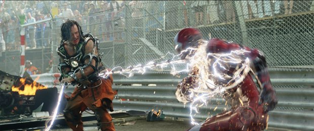 """The crucial """"Thermite"""" effect of wrapping the whips around Iron Man contained an electrifying array of vfx."""