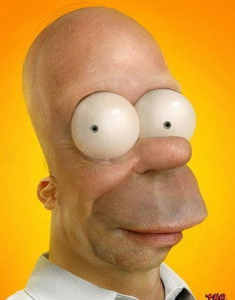 Does this Homer Simpson looks more like a mutation? Courtesy of Pixeloo.