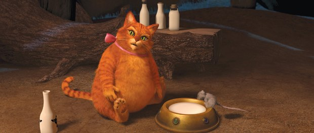 Puss required three rigs for Shrek Forever After.