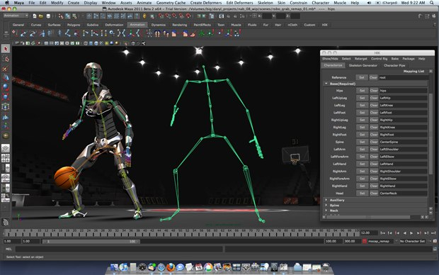 More quickly and easily reuse, correct, and enhance motion-capture and animation data with a new non-destructive retargeting using the Autodesk HumanIK (HIK) libraries.