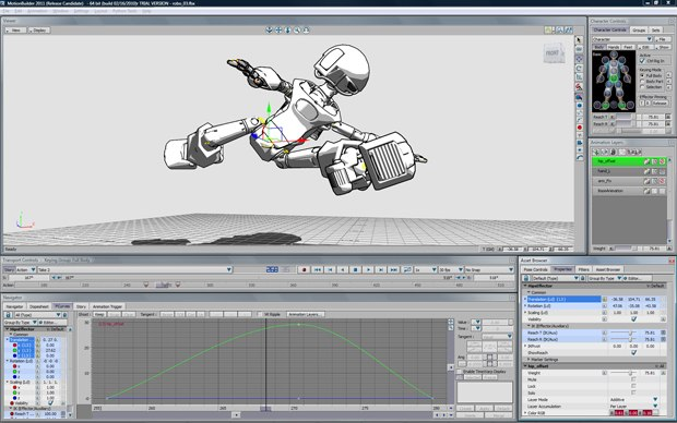 An expanded animation layer tool set in MotionBuilder offers new capabilities to rename, mute, solo and merge layers.