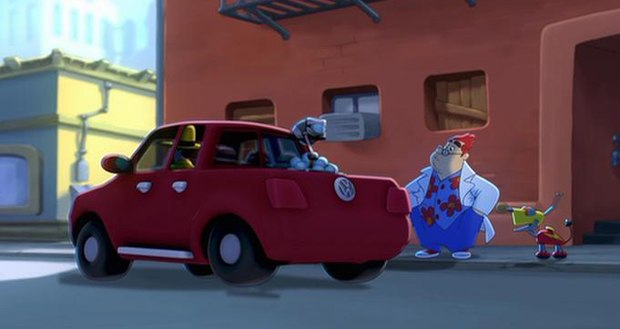 Volkswagon shown in Curious George. Courtesy of Universal and Imagine Ent.