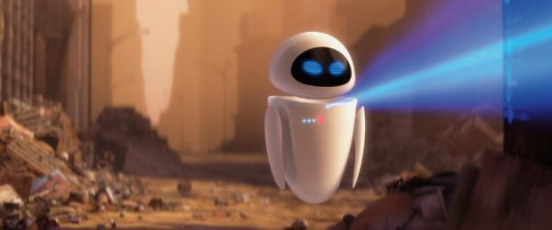 WALL•E was a walking ad for Apple. Courtesy of Disney.