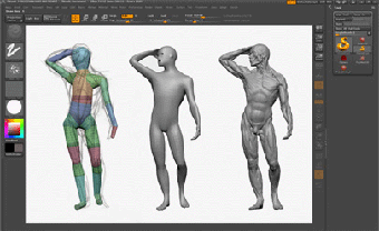 Sketch, construction, remesh & final sculpt all done with 21 UX Cintiq in ZBrush.