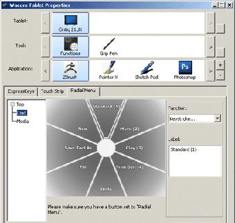 Setup custom settings, keys and radial menus for each software program you use.