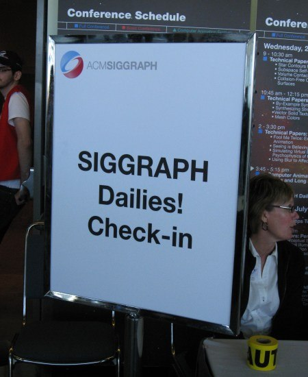 My event favorite - the all new SIGGRAPH Dailies!