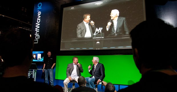 The most popular celebrity appearance was by William Shatner and Dick Van Dyke touting LightWave. © 2010 ACM SIGGRAPH.