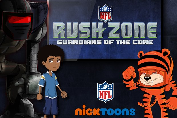 Nick is getting animated with the NFL with Rush Zone. Courtesy of Nickelodeon.