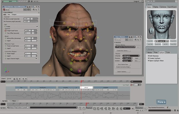 You can also load audio files into Face Robot and generate facial animation.