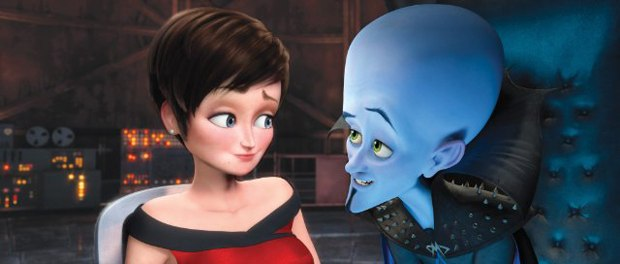 Megamind taunts his prisoner who has seen all his tricks. Image courtesy of DreamWorks.