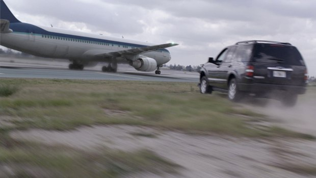 The runway chase was done in Maya.