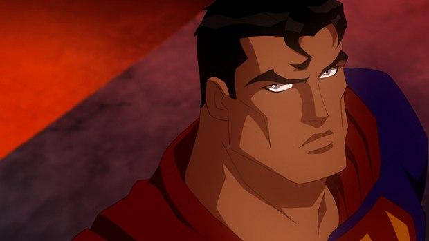 "Superman guides Supergirl in ""Superman/Batman: Apocalypse."""