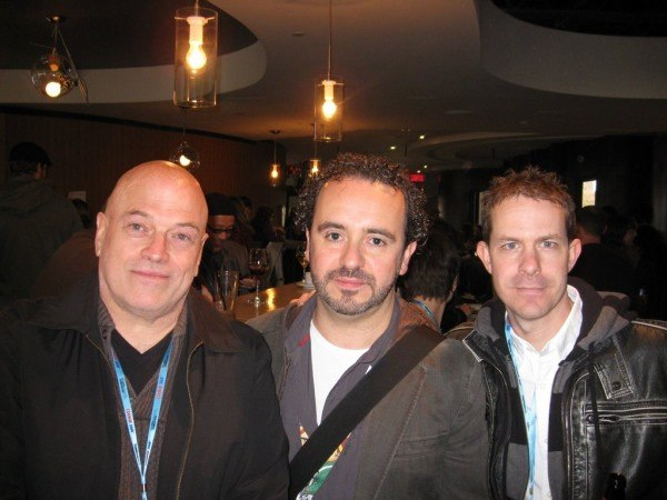 John Halfpenny of The Music City Experience, with Frank Falcone and Mark Ainslie from Guru Studios.