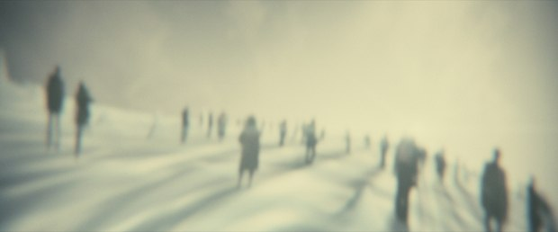 The hereafter needed to have horizon as well as perspective of depth using stripped down versions of the 3D sets.