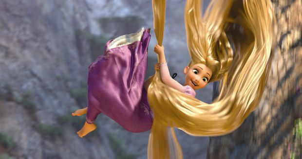 It was all about the hair as an outward expression of Rapunzel's life force.