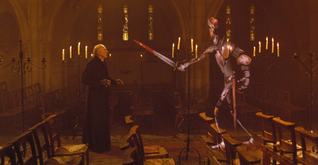 John Lasseter and the computer graphics division were instrumental in pulling off the stained glass knight in Young Sherlock Holmes.
