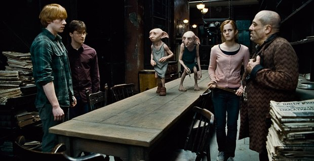 Dobby & Kreacher were humanized by Framestore by tweaking their features and softening their skin.