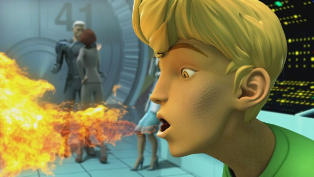 CG afforded Chung textures and special effects that would be difficult in 2D.