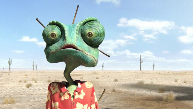 Rango gives Johnny Depp another unusual role to play. Courtesy of Nickelodeon Movies.